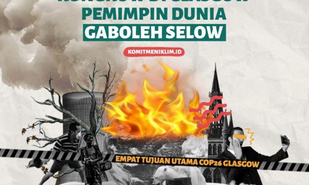 KLIMATOGRAFIK: Kongkow di Glasgow Pemimpin Dunia Gak Boleh Selow